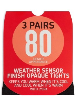 Женские колготки New 3 Pairs Black80 Denier Appearance Weather Sensor Finish Opaque Tights