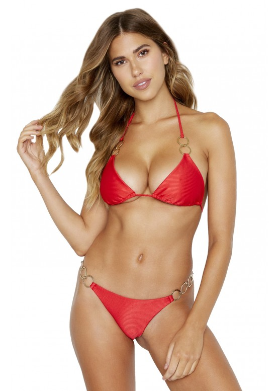 Купальник Beach Bunny  Nadia Triangle Top & Lexi Tango Bottom Red Rib