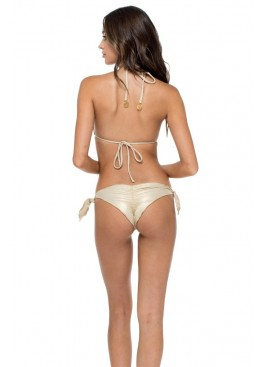 Плавки Luli Fama Cayo Coco Brazilian Bottom Gold