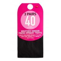 Женские колготки New 3 Pairs BROWN 40 Denier Appearance Weather Sensor Finish Opaque Tights