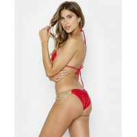 Купальник Beach Bunny Ball and Chain Triangle Top & Skimpy Bottom Red